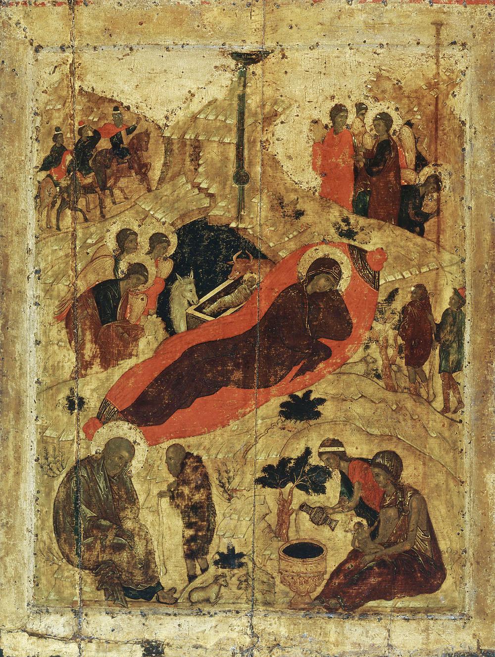 «Рождество Христово», икона Андрея Рублёва.