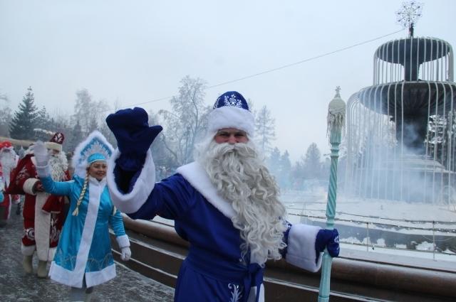 Омичи регулярно участвуют в слётах Дедов Морозов.
