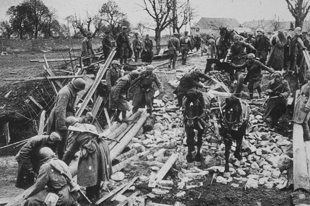 Продвижение советских войск, 1943 г.
