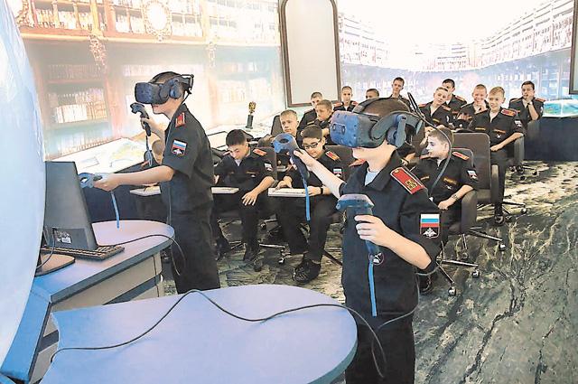 Учебный класс вСеверо-Кавказском суворовском военном училище.