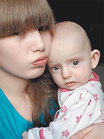 Дочь Настя с Богданом
