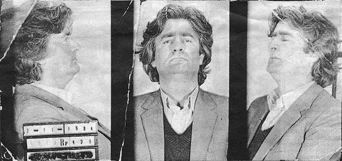 Арестованный за экономические преступления Радован Караджич, ноябрь 1984 года.