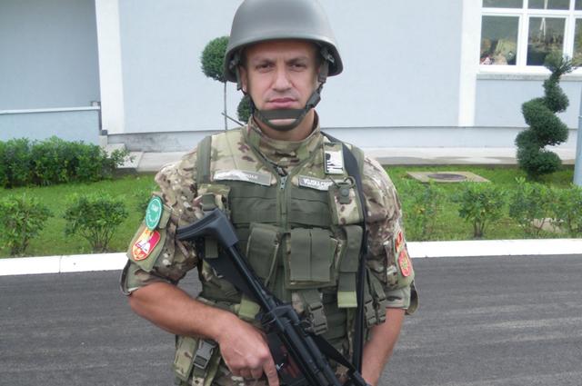 Солдат армии Черногории.