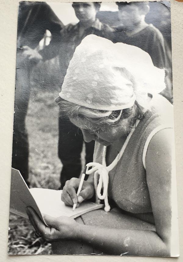 Экспедиция в Куньинский район. 1974 год.