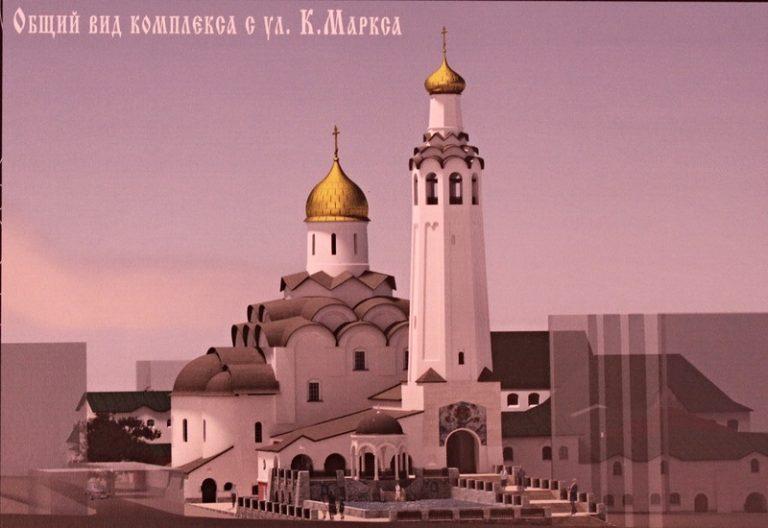 Вид будущих построек возрождённого монастыря. Проект.