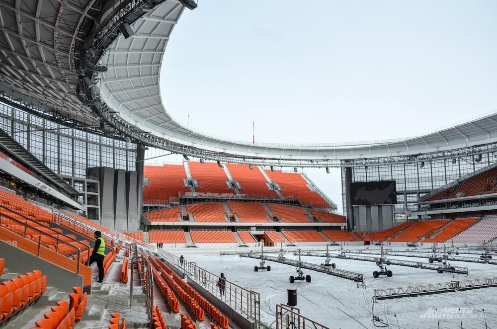 Сегодня стадион полностью сдан в эксплуатацию.