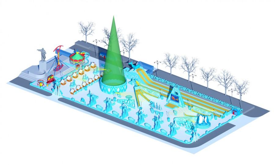 Общий план будущего ледового городка