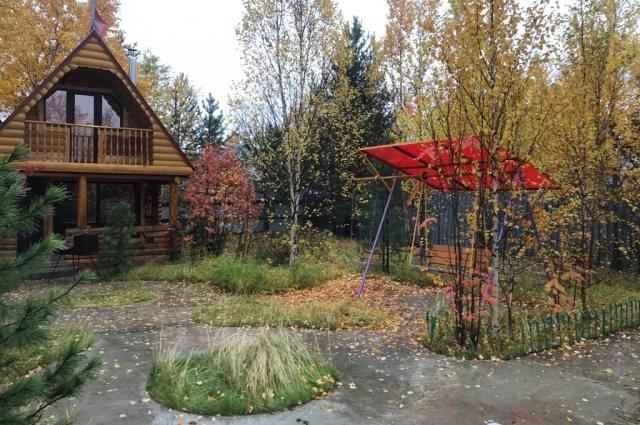 Осенью на даче.