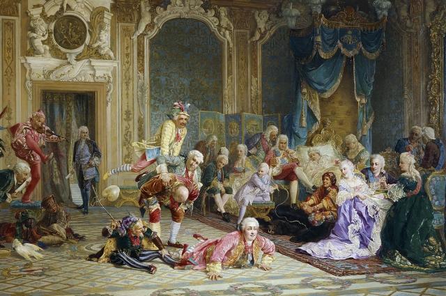 Шуты в спальне Анны Иоанновны (Якоби В. И., 1872 год)