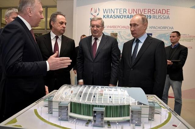 Президент решил лично проверить ход строительства объектов Универсиады.
