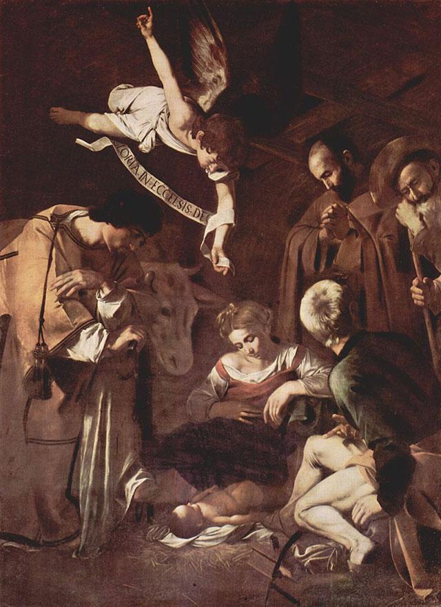 Картина «Рождество со святым Франциском и святым Лаврентием», 1600 г. Микеланджело Меризи да Караваджо