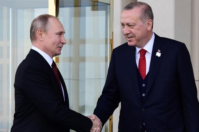 : Владимир Путин и Реджеп Тайип Эрдоган.