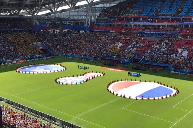 На первом матче группового этапа чемпионата мира по футболу на «Казань-Арене» 16 июня встретились сборные Франции и Австралии