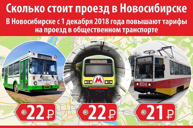 Новые тарифы на проезд в Новосибирске.