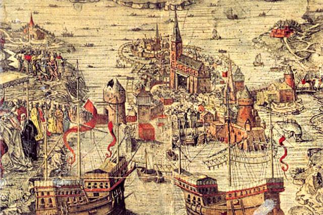 «Стокгольмская кровавая баня». Гравюра неизвестного художника, 1523—1560 гг.