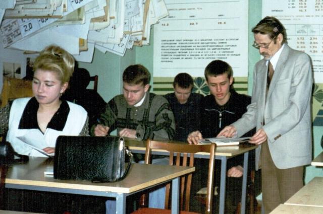 Александр Зимин и студенты
