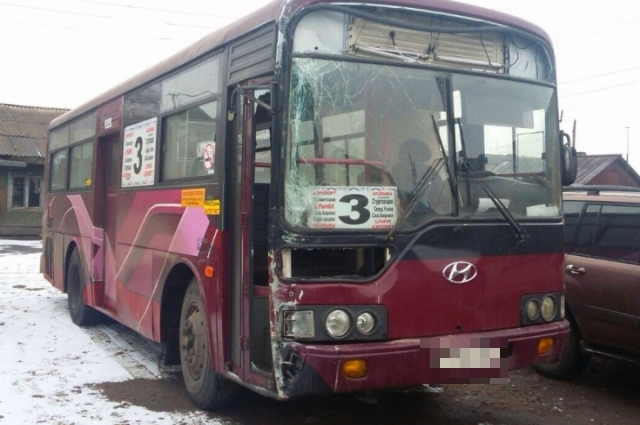 Водителя автобуса удалось задержать не сразу.