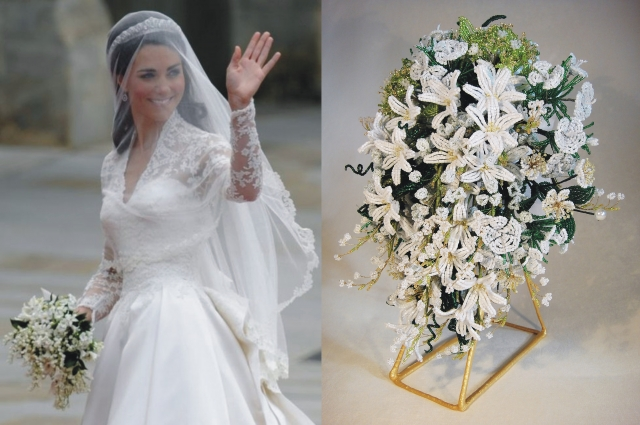 В 2012 году уральская мастерица сделал точную копию свадебного букета Кейт Миддлтон. Подарок приняли в Букингемском дворце.