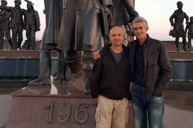 Константин Тимерман с отцом Анатолием.