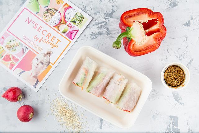 Спринг-ролл с овощами и тофу