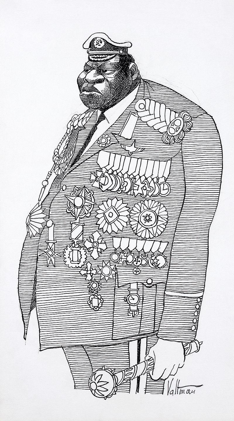 Карикатура на Иди Амина работы Эдмунда Валтмана, 1977 год.