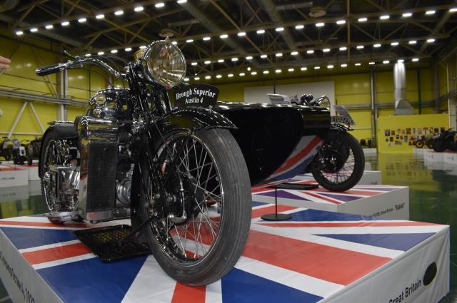 Одна из главных жемчужин коллекции - английский мотоцикл Brough Superior Austin Four 1932 года, созданный Джорджем Брафом.