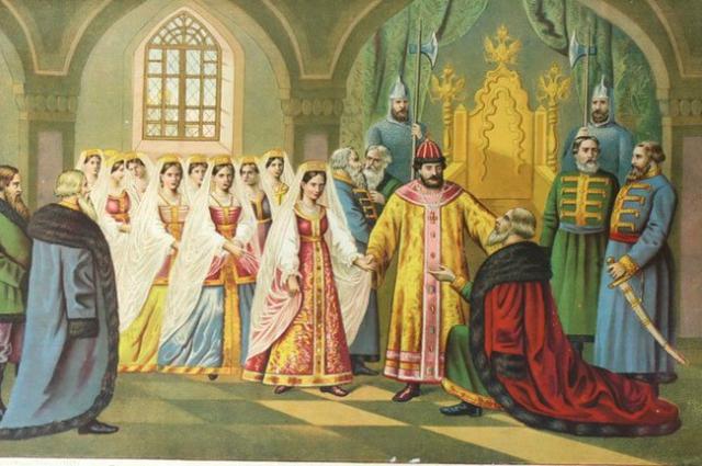 Царь Алексей Михайлович выбирает себе невесту.