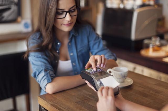 Кафе, кредитка, оплата, счет