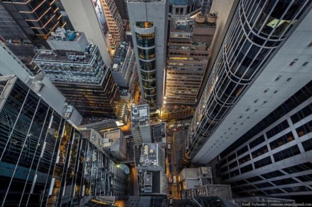 Небоскребы Гонконга.