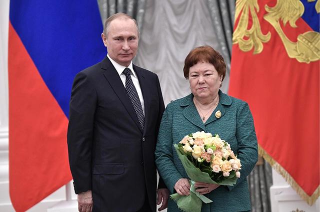 На награждении в Кремле