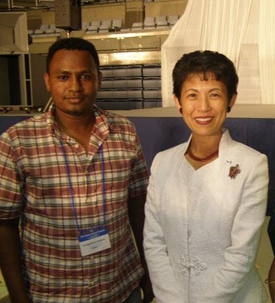 Принцесса Такамадо во время 21-го Тихоокеанского научного конгресса.