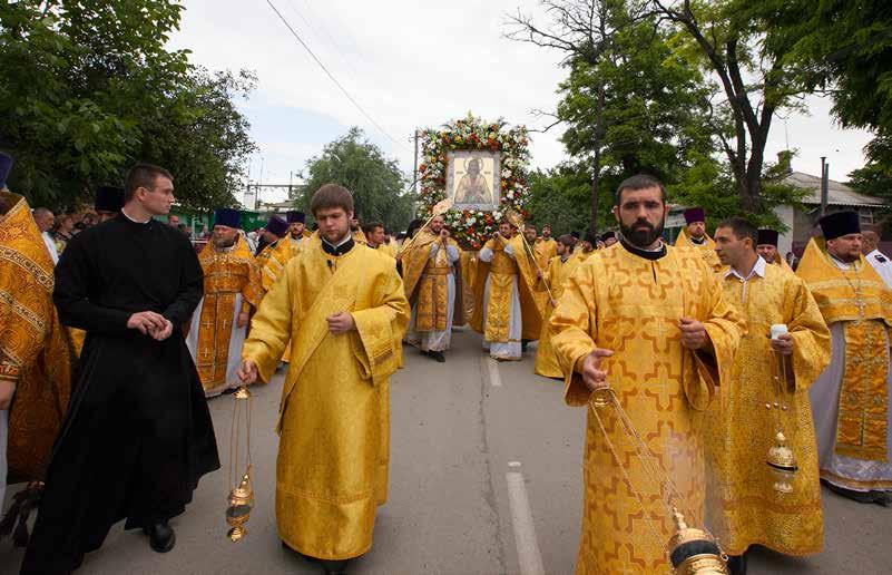 Крестный ход в честь 15-летия со дня прославления святого праведного Павла Таганрогского.