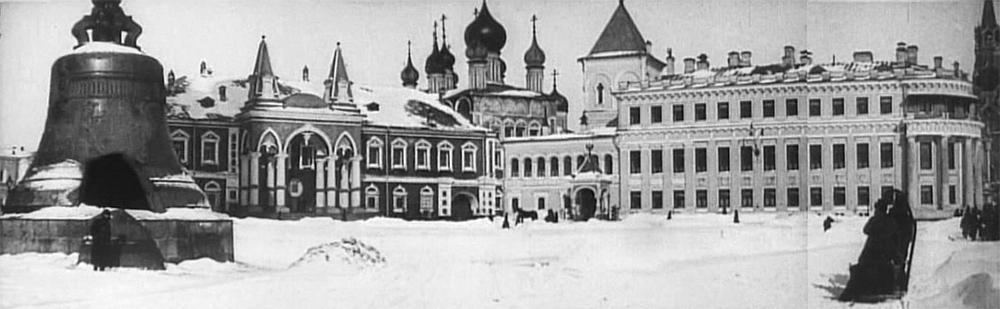 Чудов монастырь. Кадры из фильма Москва в снежном убранстве, 1908 г.