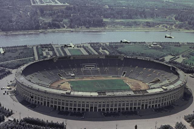 Стадион Лужники в Москве. 1968 год