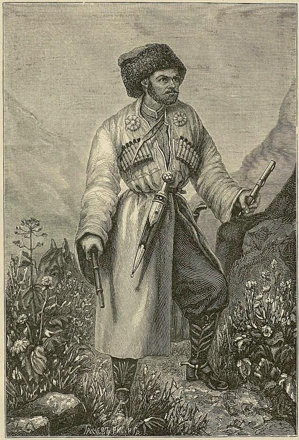 Хаджи-Мурат. Гравюра с литографии 1851 года.