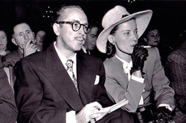 Далтон Трамбо с женой, 1947 г.