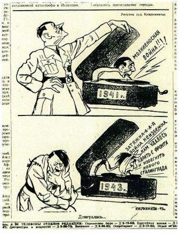 Сталинградская битва в карикатуре