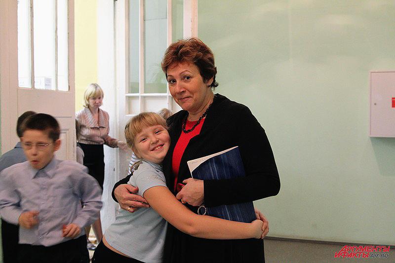 Ольга Круглова с учениками