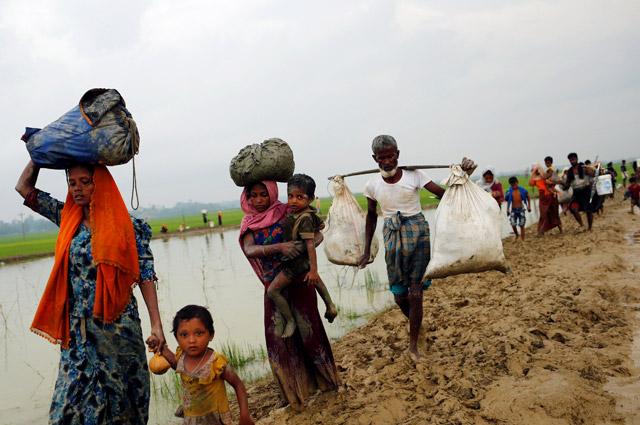 Беженцы рохинджа.
