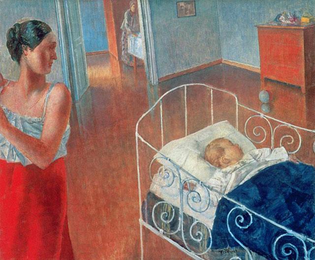 Картина «Утро в детской». Кузьма Петров-Водкин