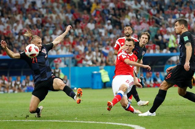матч Россия-Хорватия.