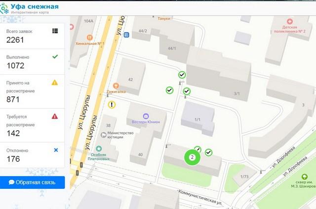 На интерактивной карте