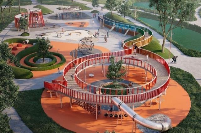 Эскиз будущего парка.