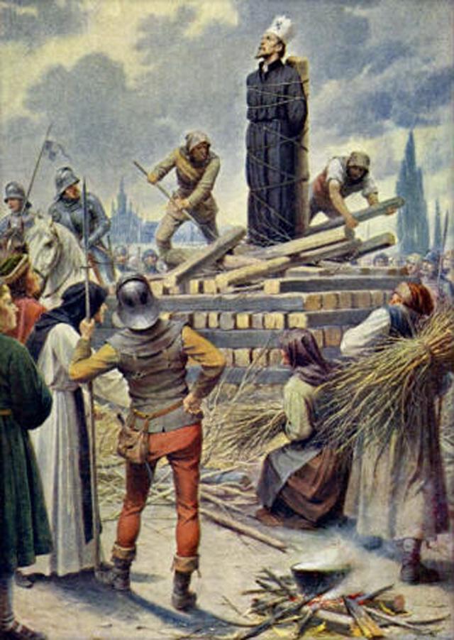 Картина Владислава Муттиха Ян Гус на костре в Констанце, 1415