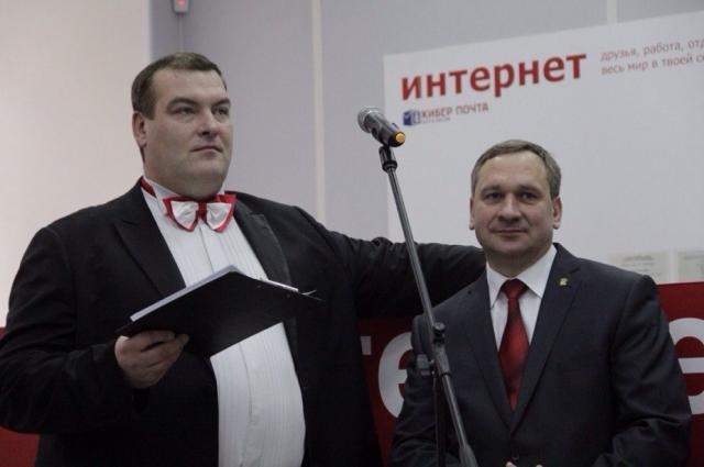 С главой города Иваном Николаевичем Цецерским.