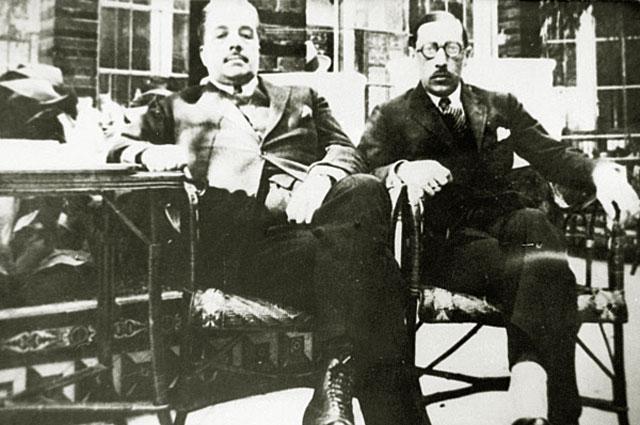 Сергей Дягилев и Фёдор Стравинский. 1921 год