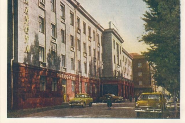 Гостиница Октяюрьская. 60-годы 20 век