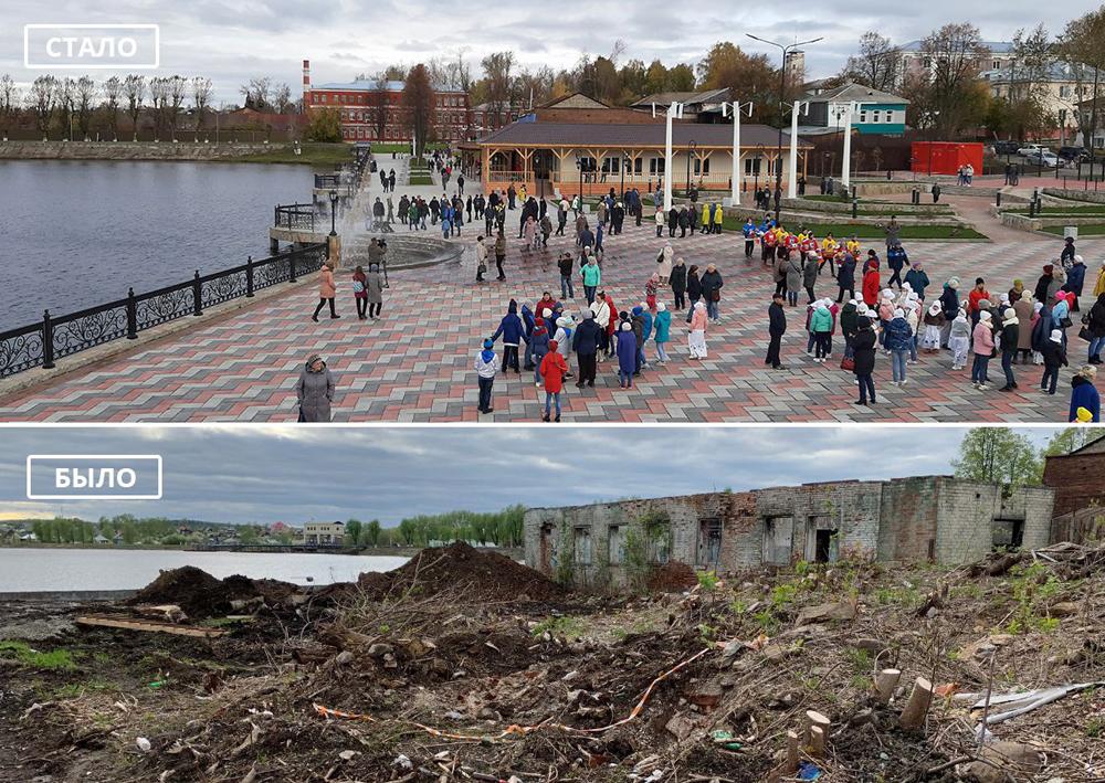 Реконструкция набережной пруда в Верхней Туре.