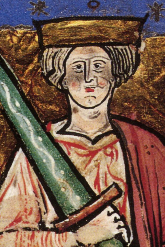Этельред Неразумный, илллюстрация из манускрипта, ок. 1220 г.