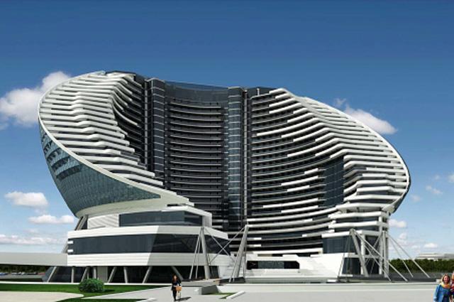 Проект пятизвёздочной 30-этажной гостиницы с казино, которую к маю 2016 года компания Адаптас (Рус) планирует построить в игорной зоне Азов-сити в районе Анапы